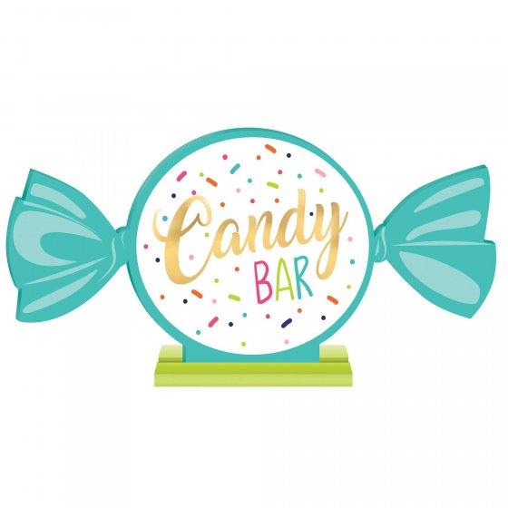 Sweets & Treats MDF Standing Candy Bar Sign 20cm x 40cm