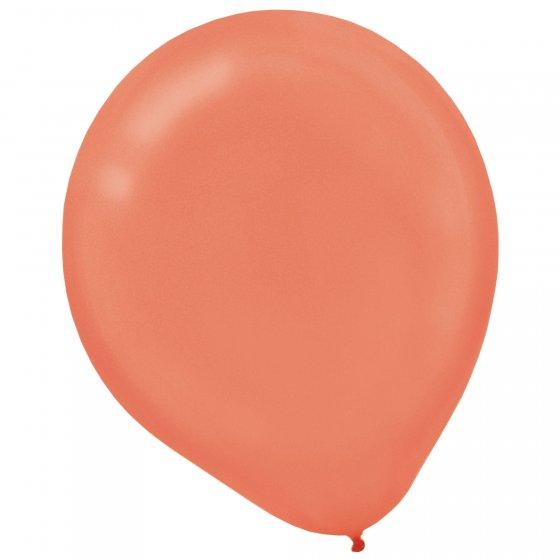 Latex Balloons 12cm 50 Pack - Pearl Rose Gold