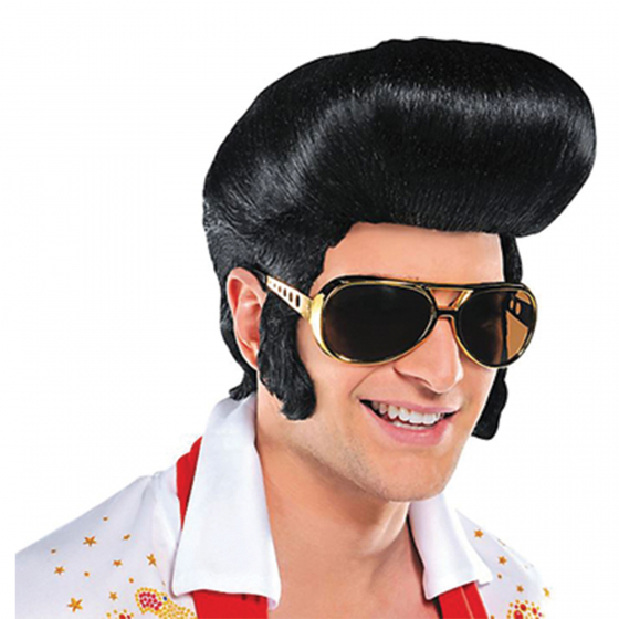 The King Wig Fits Adults. Do Not Use styling tools with heating elements this will damage synthetic fiber. Cool styling tools plastic curlers and hairspray recommended. Intended for Adult novelty use only.