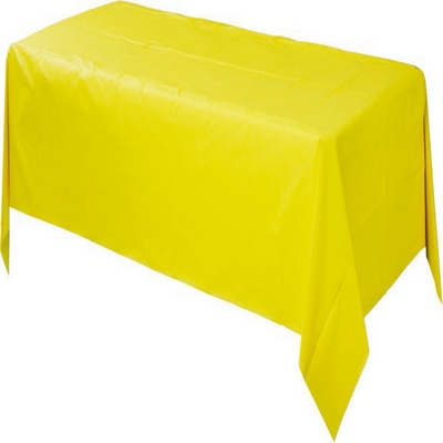 Plastic Rectangular Tablecover - Yellow Sunshine