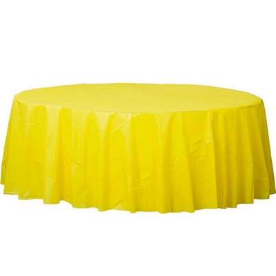 Plastic Round Tablecover-Yellow Sunshine