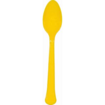 Heavy Weight Spoon 20 Pack - Yellow Sunshine